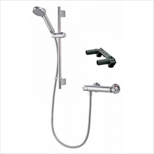 Aqualisa - Midas 100 Bar Mixer Shower With Adj Head & Easy Fit Bracket
