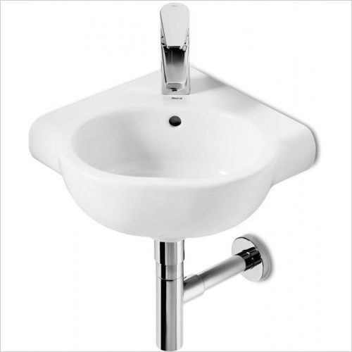 Roca - Meridian-N Compact Corner Basin 350 x 350mm 1TH