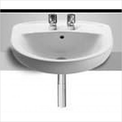 Roca - Laura Semi Recessed Basin 510 x 400mm 2TH