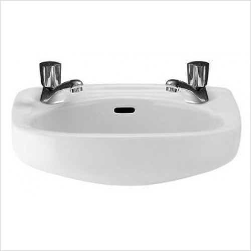 Roca - Ibis Cloakroom Basin 440 x 310mm 2TH
