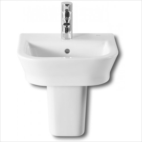 Roca - The Gap Semi Pedestal For 350/400mm Cloakroom Basin