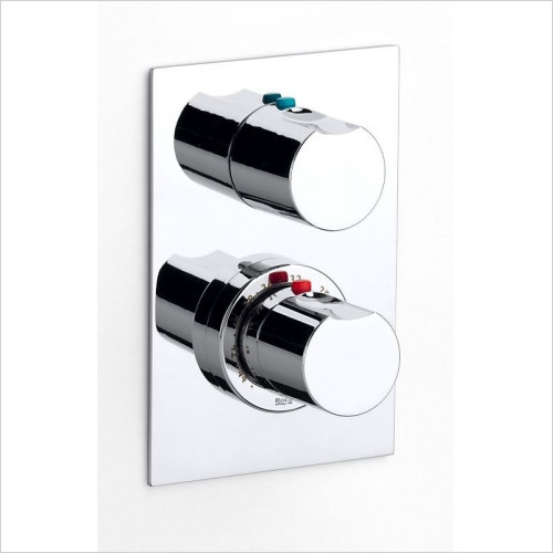Roca - Moai 1/2'' - 1/2'' Built-In Thermostatic Bath-Shower Mixer