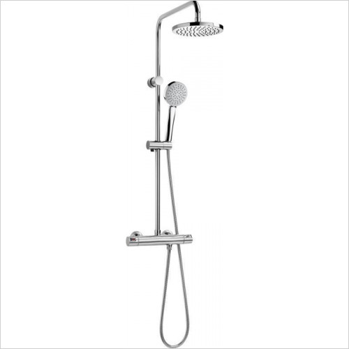 Roca - Victoria-T Shower Column With Diverter, Rose & Handset