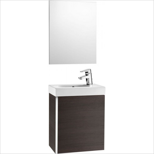 Roca - Mini Pack Basin & Base Unit & Mirror W450 x D250 x H575mm