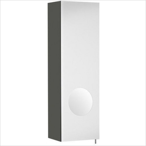 Roca - Luna 200mm Mirror Cabinet LH, Integrated Magnifying Mirror