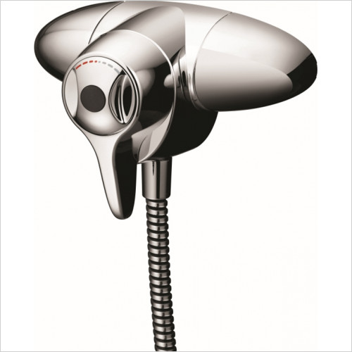 Ideal Standard - Bathrooms - CTV EL Exposed Thermostatic Shower Mixer With Extended Lever