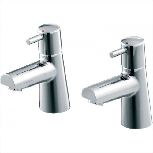Ideal Standard - Bathrooms - Cone Basin Pillar Taps With Lever Handles