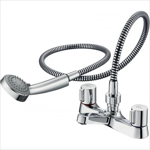 Ideal Standard - Bathrooms - Alto Bath Shower Mixer 2 Hole Dual Control With Shower Set