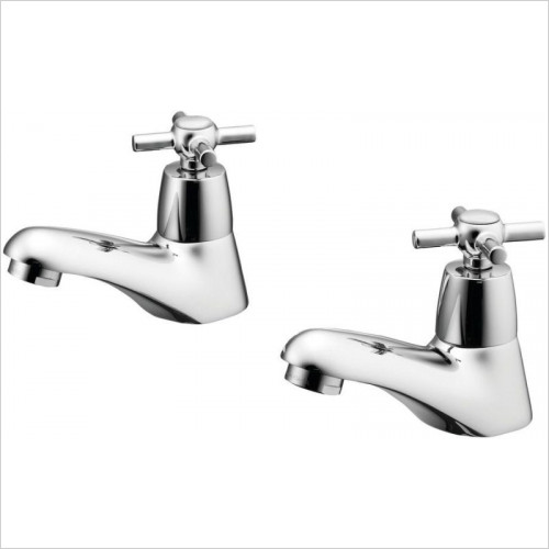 Ideal Standard - Bathrooms - Elements Basin Pillar Taps With Crosshead Handles