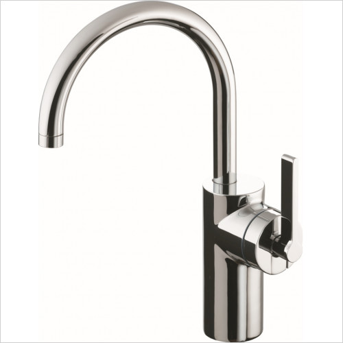 Ideal Standard - Bathrooms - Silver Vessel Basin Mixer 1 Hole Single Lever No Waste
