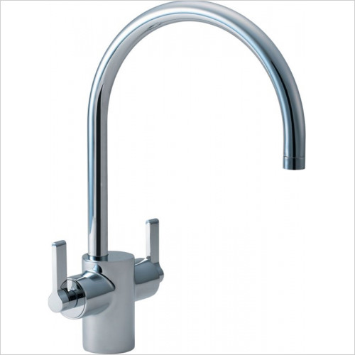 Silver Sink 1 Hole Mixer Dual Control