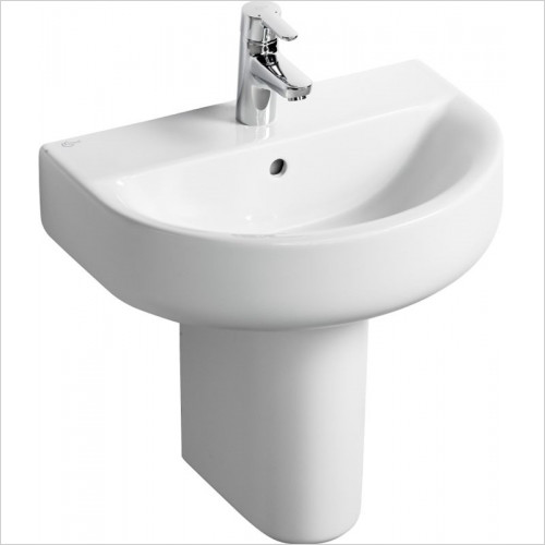 Ideal Standard - Bathrooms - Concept Space 550mm Arc Short Proj. Washbasin 1TH