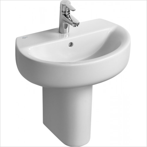Ideal Standard - Bathrooms - Concept Space 550mm Sphere Short Proj. Washbasin 1TH