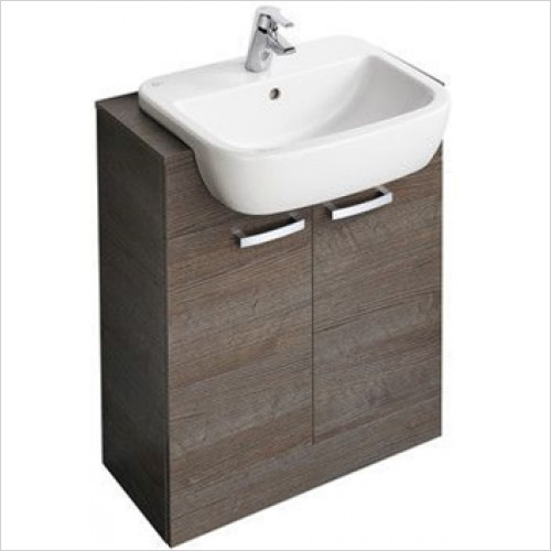 Ideal Standard - Bathrooms - Tempo 650 x 300mm Semi Countertop Basin Unit With 2 Doors