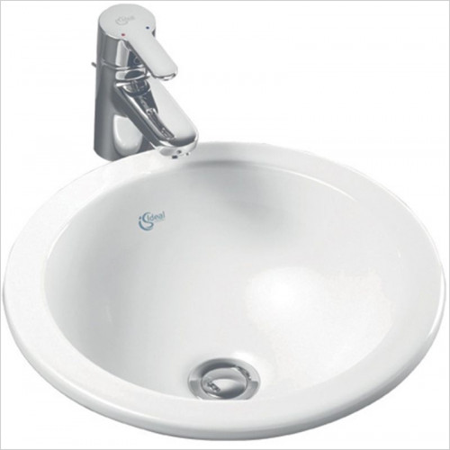Ideal Standard - Bathrooms - Concept Sphere 380mm Countertop Washbasin No Tap Deck