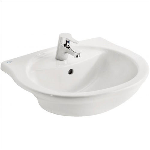 Ideal Standard - Bathrooms - Alto 550mm Semi-Countertop Washbasin, 1TH