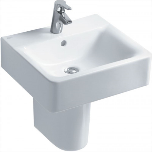 Ideal Standard - Bathrooms - Concept Cube 500mm Washbasin, Pedestal or Furniture 1TH