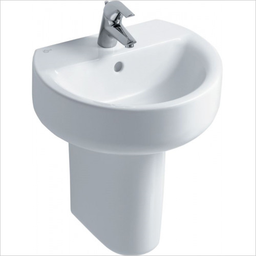 Ideal Standard - Bathrooms - Concept Sphere 500mm Washbasin, Pedestal or Furniture 1TH