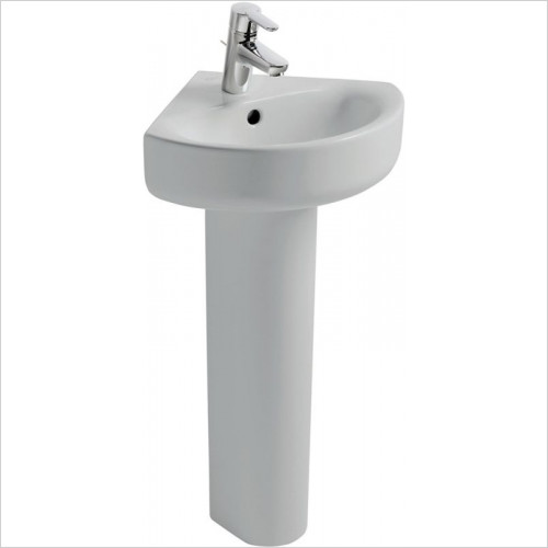 Ideal Standard - Bathrooms - Concept Arc 450mm Corner Washbasin, 1TH