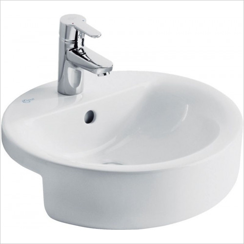 Ideal Standard - Bathrooms - Concept Sphere 450mm Semi-Countertop Washbasin, 1TH