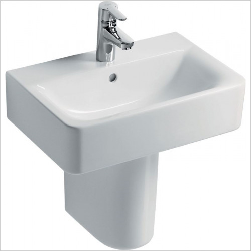 Ideal Standard - Bathrooms - Concept Cube 550mm Short Proj Pedestal Washbasin, 1TH