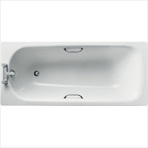 Ideal Standard - Bathrooms - Simplicity 1600 x 700mm Steel Bath 2TH With Handgrips