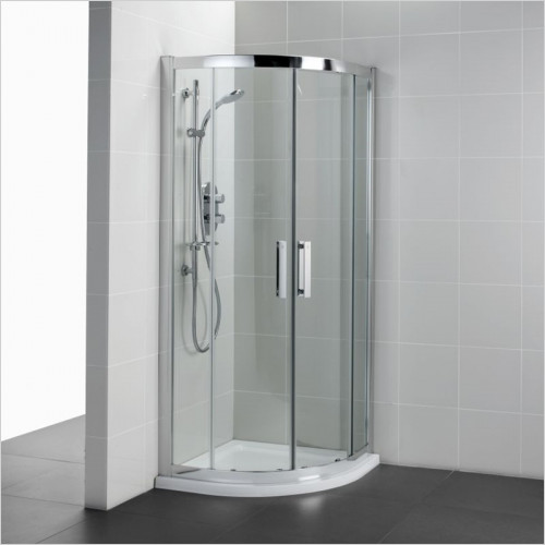 Ideal Standard - Bathrooms - Synergy 800mm Quadrant Enclosure, IdealClean Clear Glass