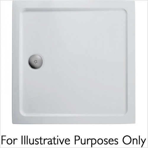 Ideal Standard - Bathrooms - Idealite Flat Top Shower Tray, 1000 x 1000mm & CP Waste