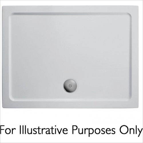 Ideal Standard - Bathrooms - Idealite Flat Top Shower Tray, 900 x 760mm & CP Waste