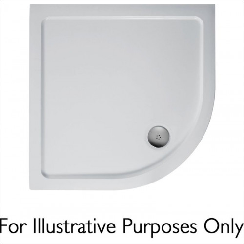 Ideal Standard - Bathrooms - Idealite Quadrant Flat Top Shower Tray, 900x900mm & Waste