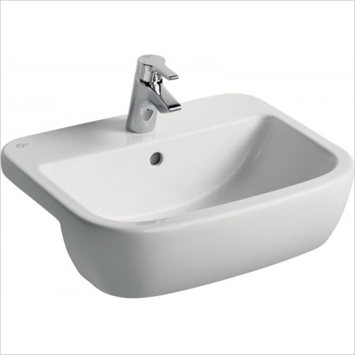 Ideal Standard - Bathrooms - Tempo 550mm Semi-Countertop Washbasin, 2TH