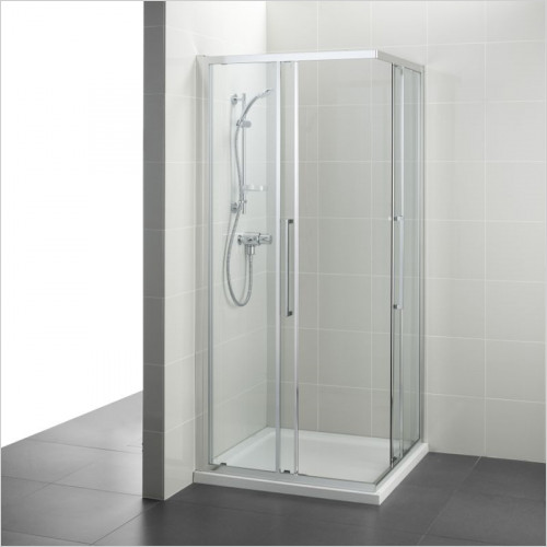 Ideal Standard - Bathrooms - Kubo 900mm Corner Entry, IdealClean Clear Glass