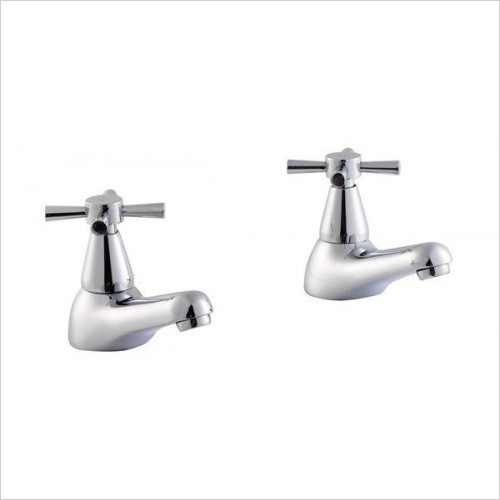 Roca - Danube Cross Bath Pillar Taps (Pair)