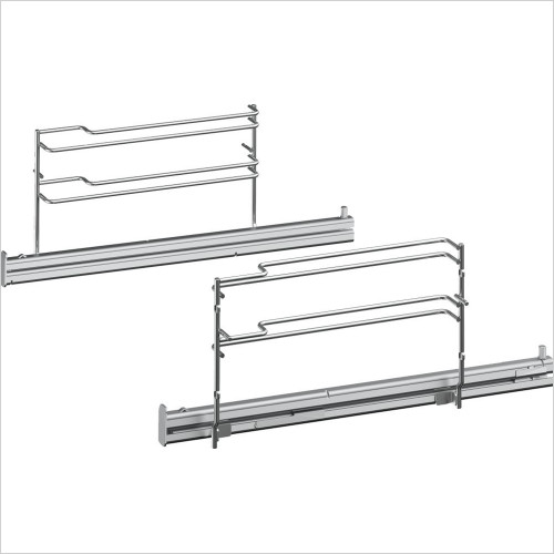 Single Level Telescopic Shelf Rails