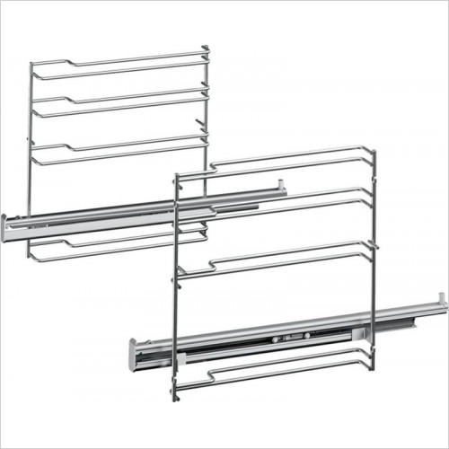 Bosch - Serie 8 Single Level Telescopic Shelf Rails
