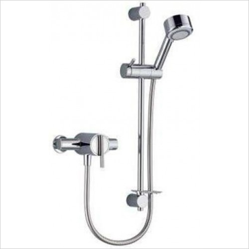 Mira - Silver EV Mixer Shower Surface Mounted With Adj Handset