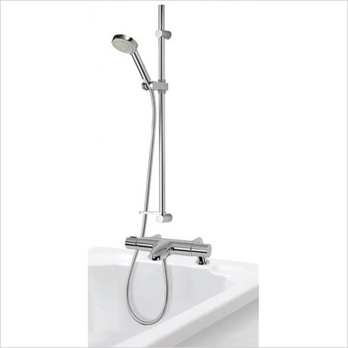 Aqualisa - Midas 110 Thermostatic Bath Shower Mixer With Slide Rail Kit