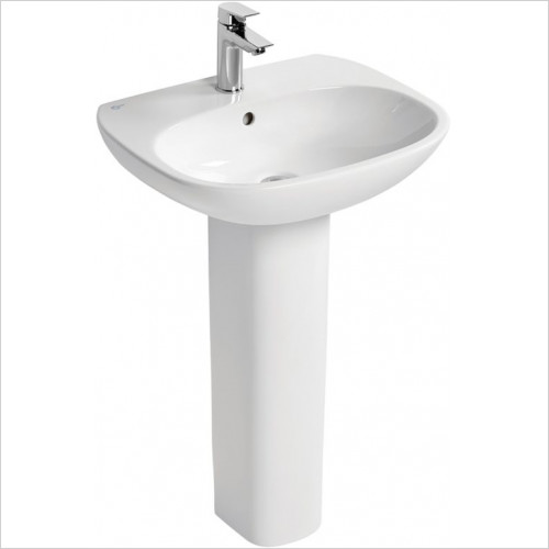 Ideal Standard - Bathrooms - Tesi 55cm Washbasin, 1TH With Overflow