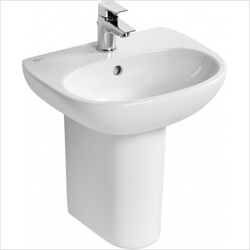 Ideal Standard - Bathrooms - Tesi 45cm Handrinse Washbasin, 1TH With Overflow