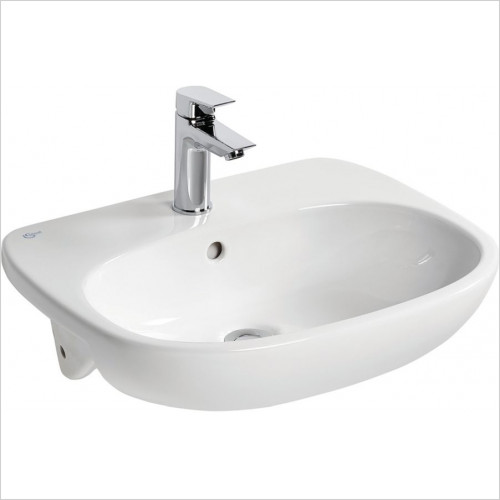 Ideal Standard - Bathrooms - Tesi 55cm Semi-Countertop Washbasin, 1TH With Overflow