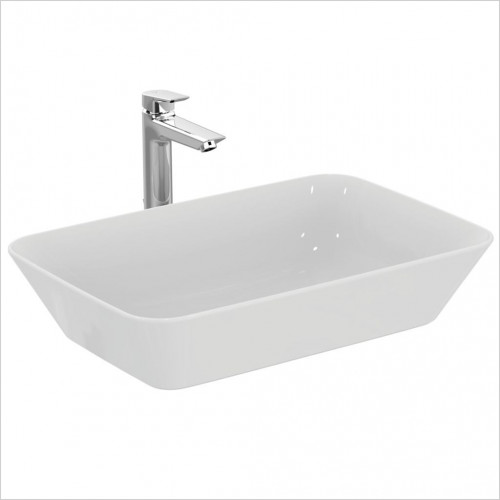 Ideal Standard - Bathrooms - Concept Air Cube 60cm Vessel Washbasin, NTH No Overflow