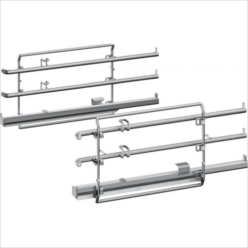 Neff - N90, 70 Shelf Supports & Single Level Comfortflex Telescopic