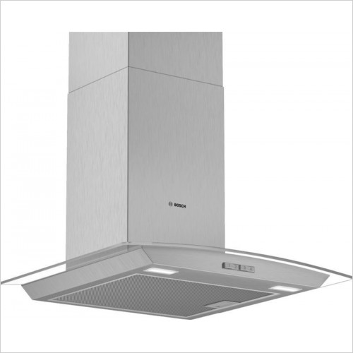 Bosch - Serie 2 60cm Wide Curved Glass Canopy Cooker Hood