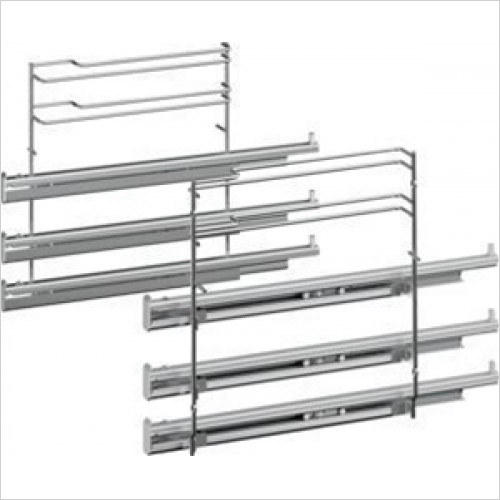 Bosch - Serie 8, 6, 4 Triple Level Telescopic Shelf Rails