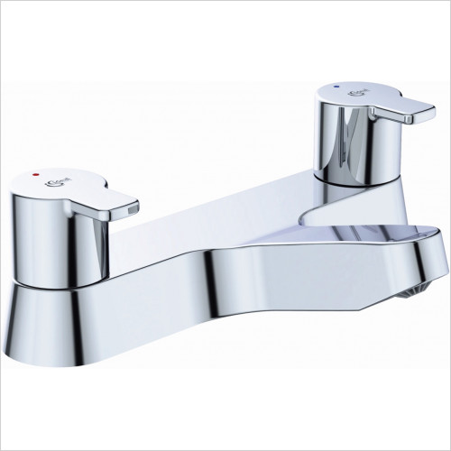 Ideal Standard - Bathrooms - Calista 2TH Deck Mounted Dual Control Bath Filler