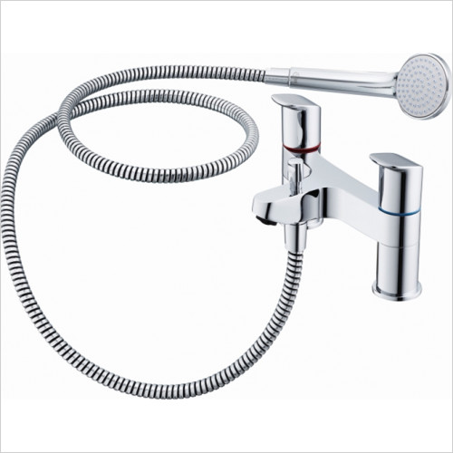 Ideal Standard - Bathrooms - Ceraflex 2TH Deck Mounted Dual Control Bath Shower Mixer