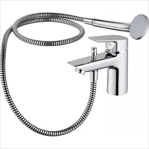 Ideal Standard - Bathrooms - Tesi Single Lever 1 Hole Bath Shower Mixer With Shower Set