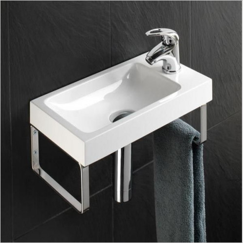 HiB Bathrooms - Delta Washbasin 40 x 10 x 22cm