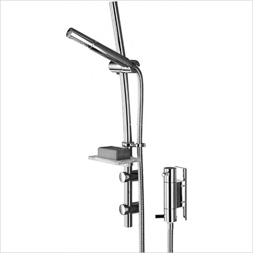 Prism Vertical Dual Control Shower With Kit
