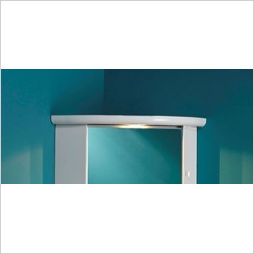 Estuary Bathrooms - Corner Cupboard Light Cornice